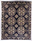 NEW YORK ATTRIBUTED DATED DOUBLE WEAVE COVERLET