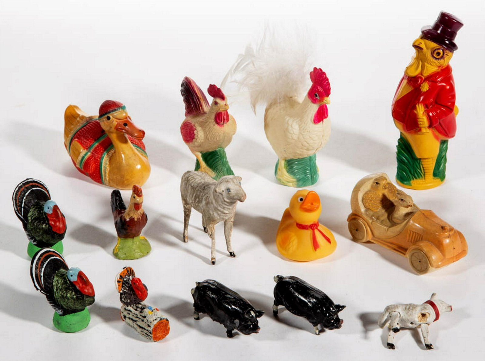 GERMAN AND OTHER ASSORTED ANIMAL FIGURES, LOT OF 13