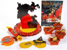 VINTAGE AND OTHER HALLOWEEN ARTICLES LOT OF EIGHT