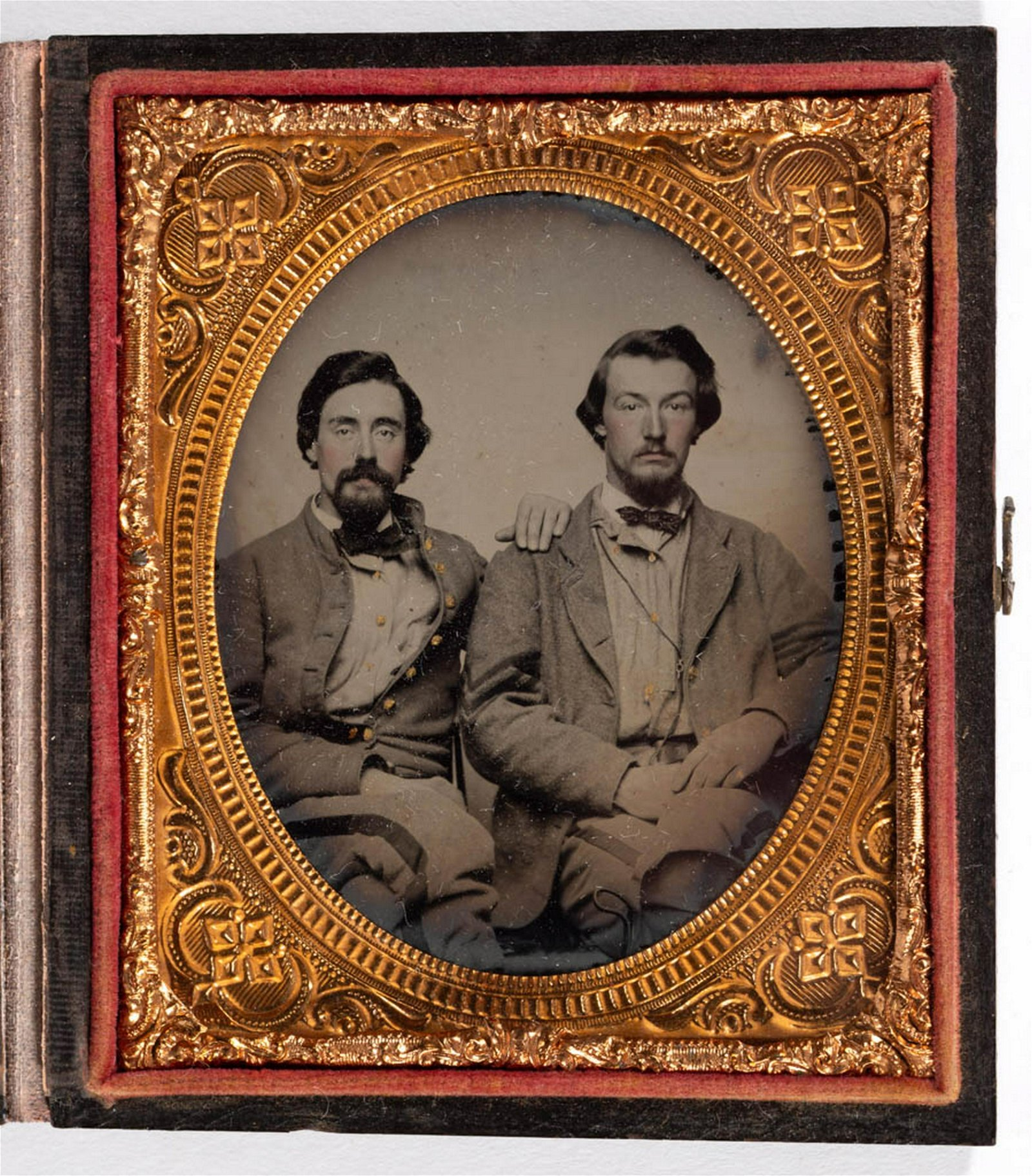 CONFEDERATE CIVIL WAR SOLDIER SIXTH-PLATE AMBROTYPE
