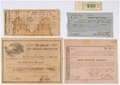 CIVIL WAR CONFEDERATE BONDS AND RELATED ARTICLES, LOT