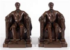 PAIR OF JENNINGS BROTHERS LINCOLN MEMORIAL BOOKENDS