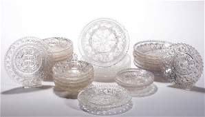 ASSORTED PRESSED LACY GLASS ARTICLES, LOT OF 26