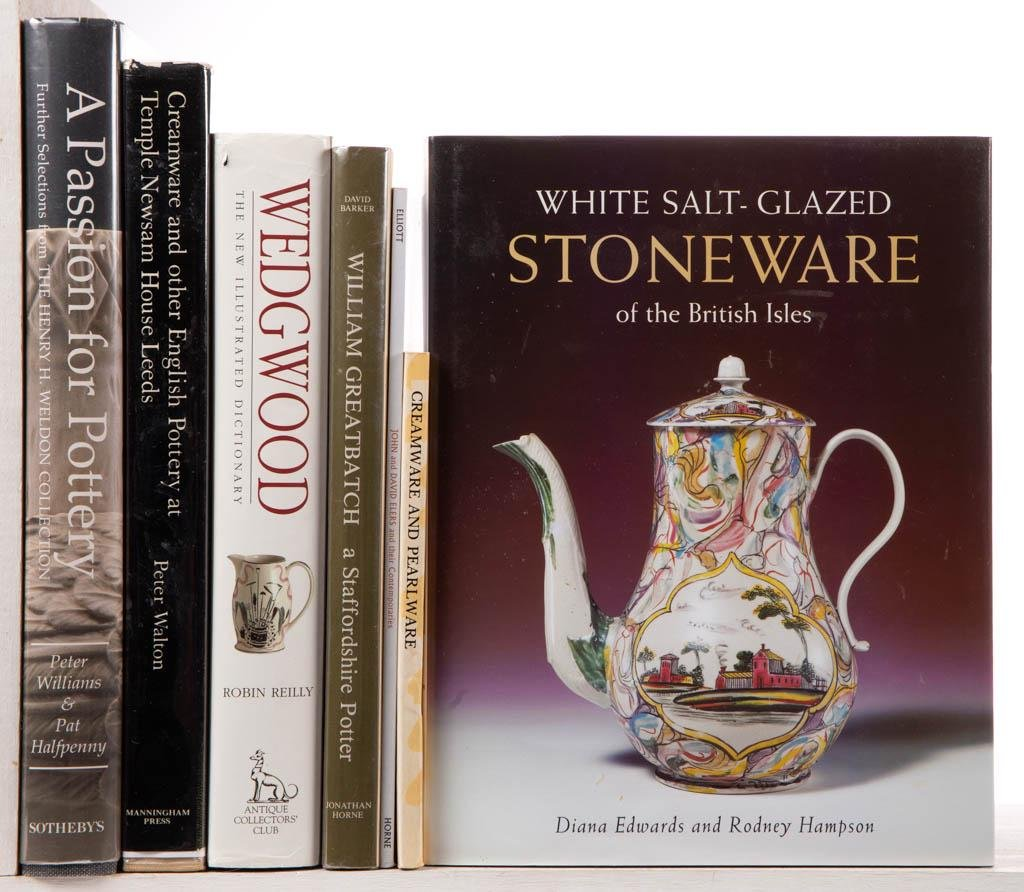 ASSORTED ENGLISH CERAMICS REFERENCE VOLUMES, LOT OF