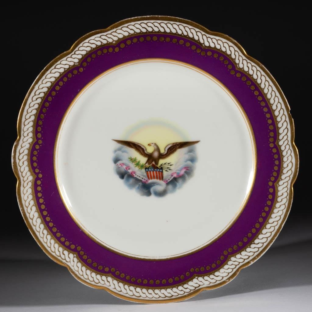 ABRAHAM LINCOLN WHITE HOUSE SERVICE LIMOGES PORCELAIN