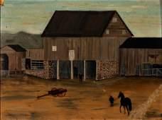 SHENANDOAH VALLEY OF VIRGINIA FOLK ART FARM SCENE