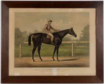 CURRIER  IVES RACING HORSE PRINT