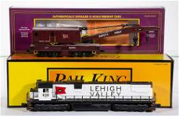 ASSORTED MTH  RAIL KING LEHIGH VALLEY OGAUGE CARS