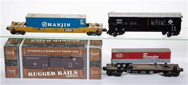 ASSORTED MTH  RAIL KING OGAUGE FREIGHT CARS LOT OF