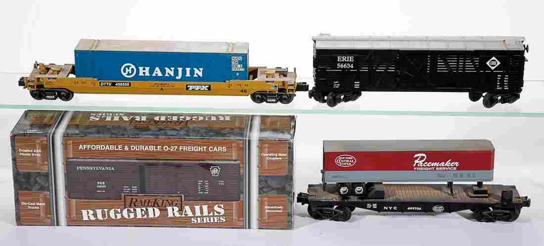ASSORTED M.T.H / RAIL KING O-GAUGE FREIGHT CARS, LOT OF