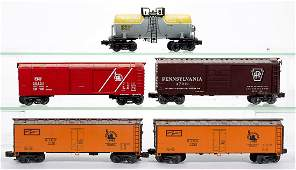 ASSORTED RAIL KING / CROWN MODEL PRODUCTS O-GAUGE CARS,