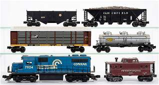 LIONEL OGAUGE LOCOMOTIVE AND FREIGHT CARS LOT OF 12