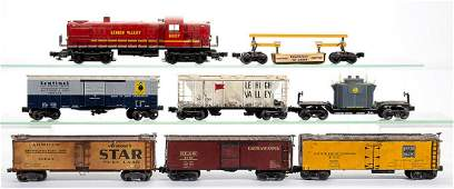 LIONEL AND OTHER OGAUGE LOCOMOTIVE AND FREIGHT CARS