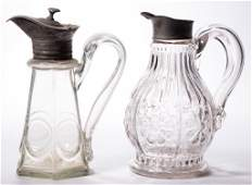 ASSORTED BLOWN-MOLDED SYRUP PITCHERS / MOLASSES JUGS,
