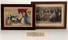 AMERICAN HISTORICAL PRINTS, LOT OF THREE