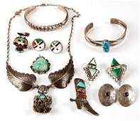NATIVE AMERICAN AND SOUTHWESTERN STERLING  SILVER