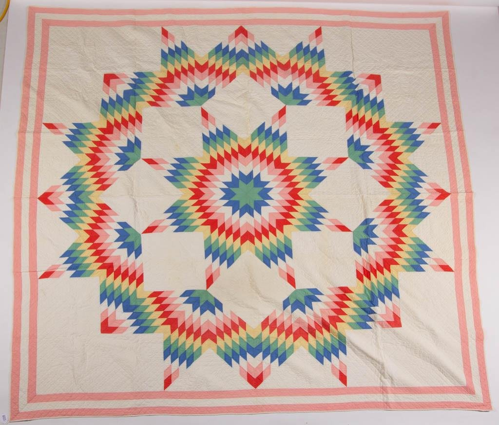 """AMERICAN """"LONE STAR"""" PIECED QUILT"""