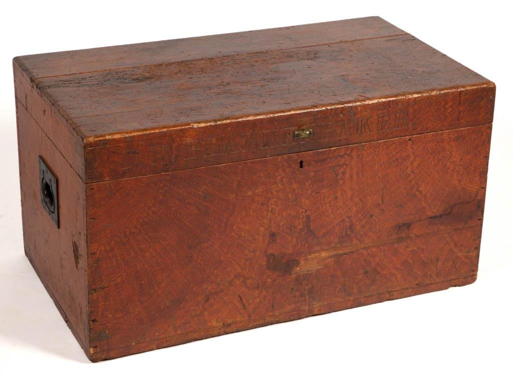 VIRGINIA PAINT-DECORATED YELLOW PINE TOOL CHEST