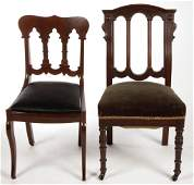 ASSORTED CLASSICAL  VICTORIAN CHAIRS LOT OF TWO