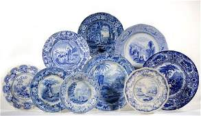 ENGLISH STAFFORDSHIRE BLUE TRANSFERPRINTED CERAMIC