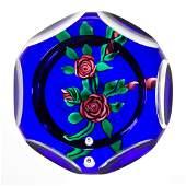 RAY BANFORD ROSE LAMPWORK STUDIO ART GLASS PAPERWEIGHT