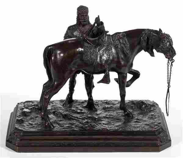 WALTER WINANS (AMERICAN, 1852-1920) BRONZE SCULPTURE