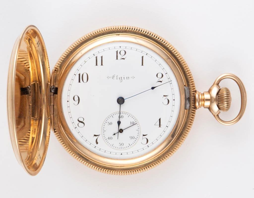 ELGIN 14K GOLD CASE 17-JEWEL MODEL 6 POCKET WATCH
