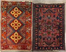 ANTIQUE PERSIAN SCATTER ORIENTAL RUGS LOT OF TWO