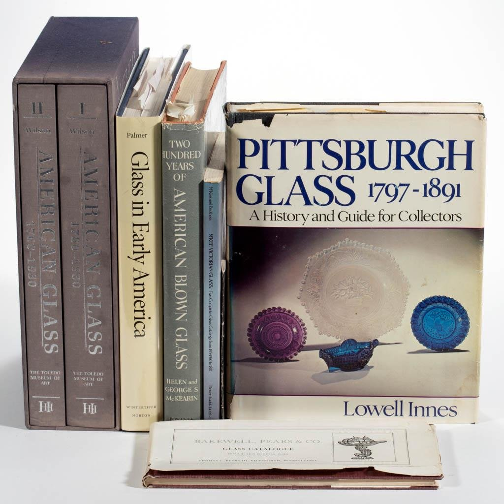 ASSORTED AMERICAN GLASS REFERENCE VOLUMES, LOT OF SEVEN