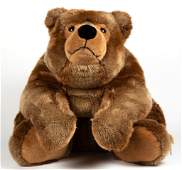 GERMAN STEIFF STUFFED URS BROWN BEAR LYING