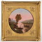 AMERICAN SCHOOL (19TH CENTURY) FOLK ART HUDSON RIVER