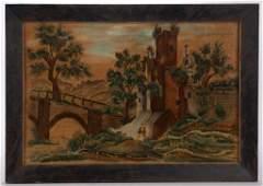 AMERICAN SCHOOL (19TH CENTURY) FOLK ART THEOREM-STYLE