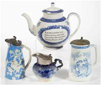 ASSORTED CERAMIC SYRUP PITCHERS, LOT OF THREE