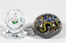 BANFORD LAMPWORK STUDIO ART GLASS PAPERWEIGHTS LOT OF