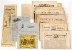 ASSORTED DELAWARE NEW YORK AND OTHER PRINTED