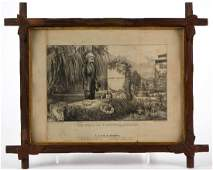 CURRIER & IVES CIVIL WAR HISTORICAL PRINT