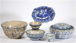 AMERICAN BLUE AND WHITE SALT-GLAZED STONEWARE ARTICLES,