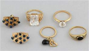 VINTAGE / CONTEMPORARY 10K AND 14K YELLOW GOLD JEWELRY,