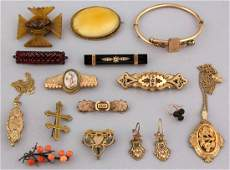VICTORIAN / ANTIQUE GOLD-FILLED AND OTHER JEWELRY, LOT