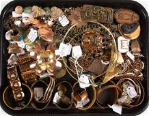 VINTAGE  CONTEMPORARY COPPER AND OTHER METAL JEWELRY