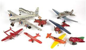 ASSORTED VINTAGE AIRPLANE TOYS LOT OF EIGHT