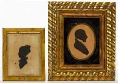 AMERICAN FOLK ART HOLLOW-CUT SILHOUETTES, LOT OF TWO