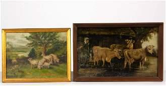AMERICAN SCHOOL (LATE 19TH CENTURY) FOLK ART FARM