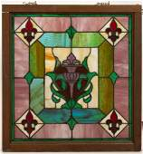 LEADED AND STAINED GLASS WINDOW