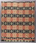 OHIO-ATTRIBUTED SIGNED AND DATED JACQUARD COVERLET