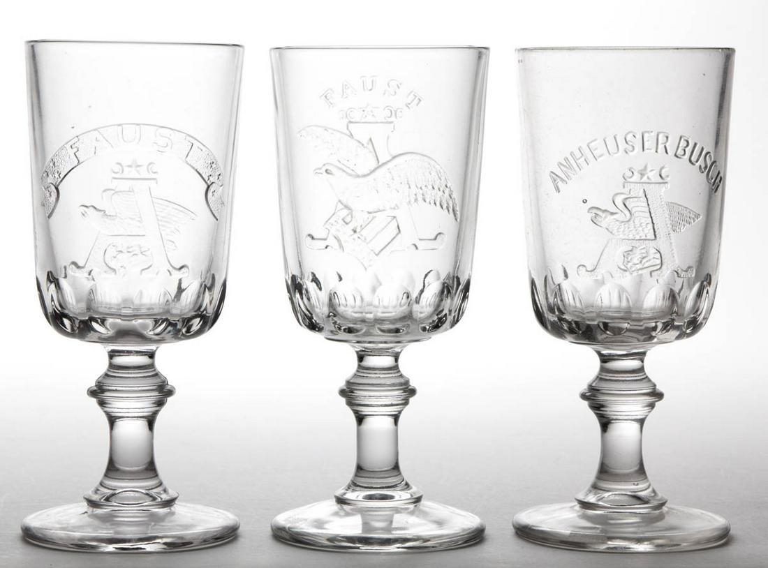 ANHEUSER-BUSCH BEER ADVERTISING GOBLETS / FOOTED ALES,