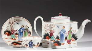 ENGLISH STAFFORDSHIRE NEW HALL CHINOISERIE PORCELAIN