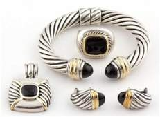 DAVID YURMAN STERLING SILVER, 14K GOLD-ACCENTED, AND