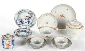 CHINESE EXPORT HAND-PAINTED PORCELAIN TABLE AND TEA