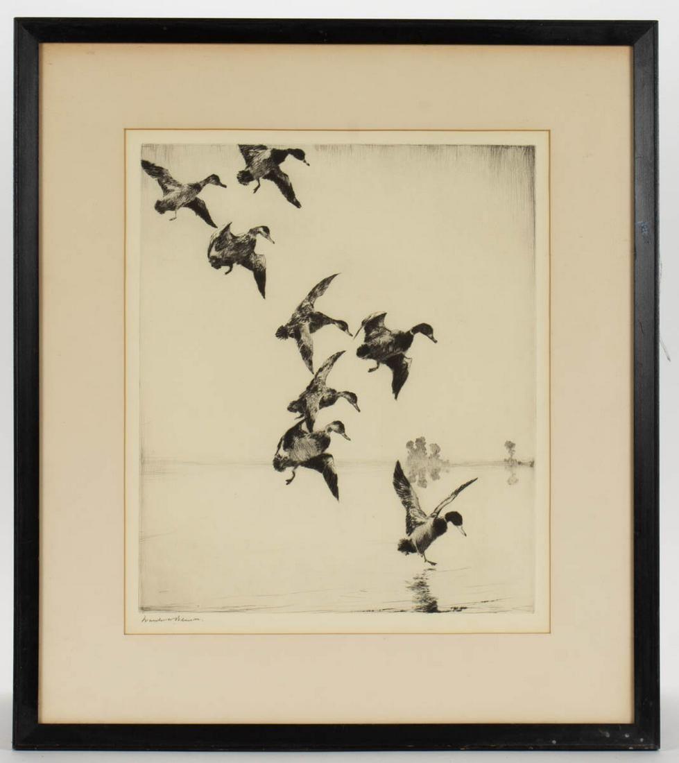 "FRANK WESTON BENSON (AMERICAN, 1862-1951) ""MALLARDS AT"